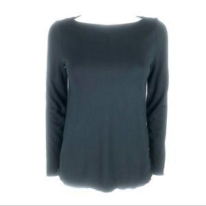 J. Jill XS Ponte Side Button Pull Over Sweater